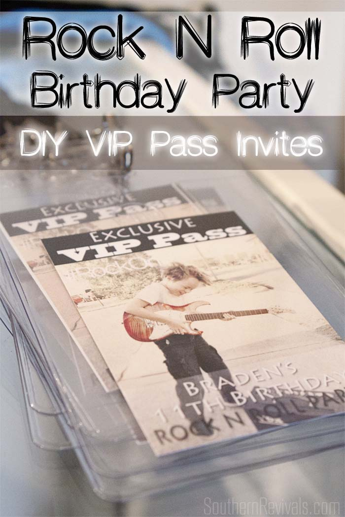 Diy rock n roll party exclusive vip pass invites southern revivals rocknrollbirthdaypartyinvites stopboris Images