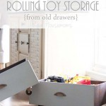 Old Drawers to Rolling Toy Storage Bins