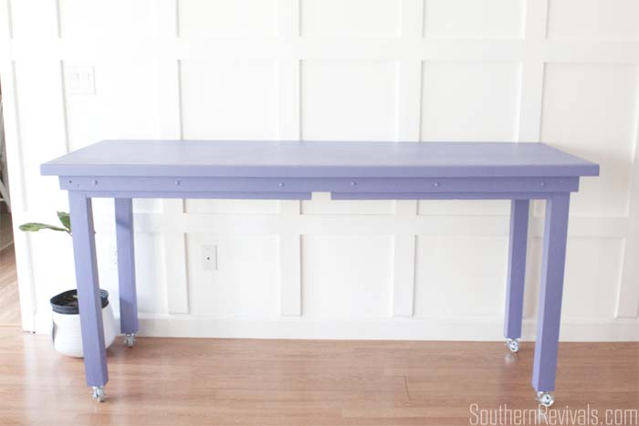 Small School Table Gets a Beautiful Bar Height Makeover #tablemakeovr #paintedfurniture #furnituremakeover SouthernRevivals.com