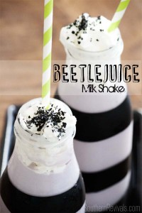 Repurposed Frappuccino Bottles Halloween Beetlejuice Milk Shake Recipe