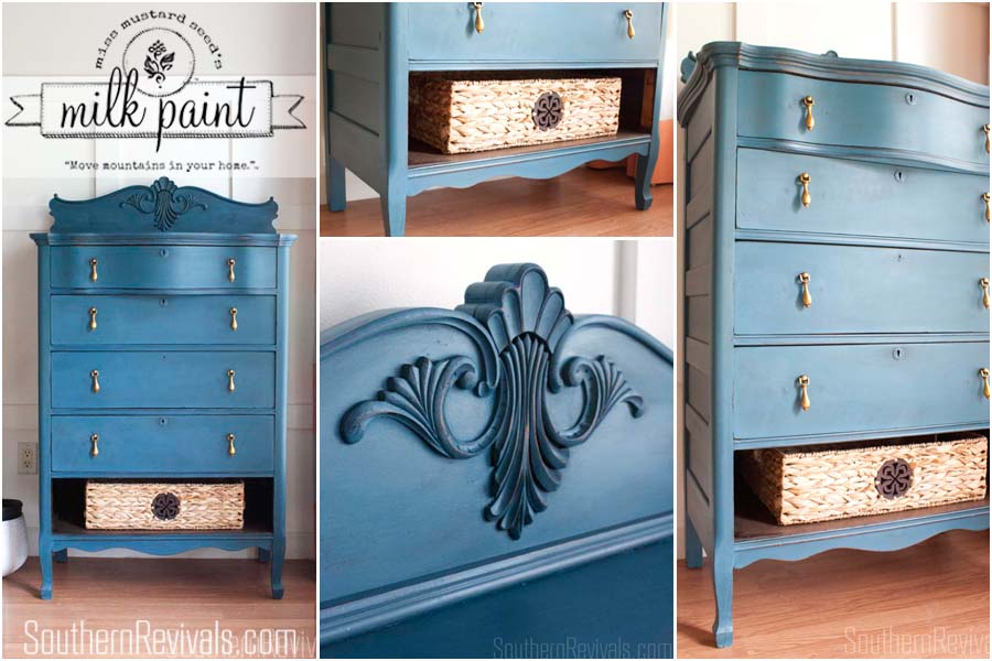 Chest of Drawers Makeover | Miss Mustard Seed's Milk Paint #paintedfurniture #furnituremakeover #mmsmp #milkpaint