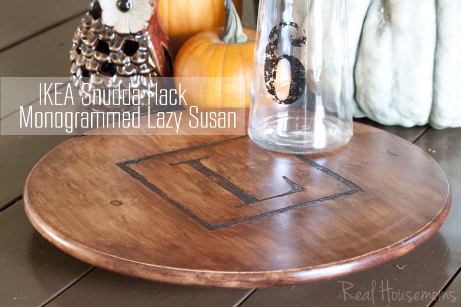 Ikea Snudda Monogrammed Lazy Susan Hack Southern Revivals