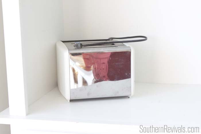 Faux Apothecary Cabinet Toaster Cover Storage