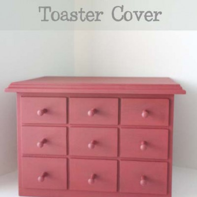 Faux Apothecary Cabinet Toaster Cover