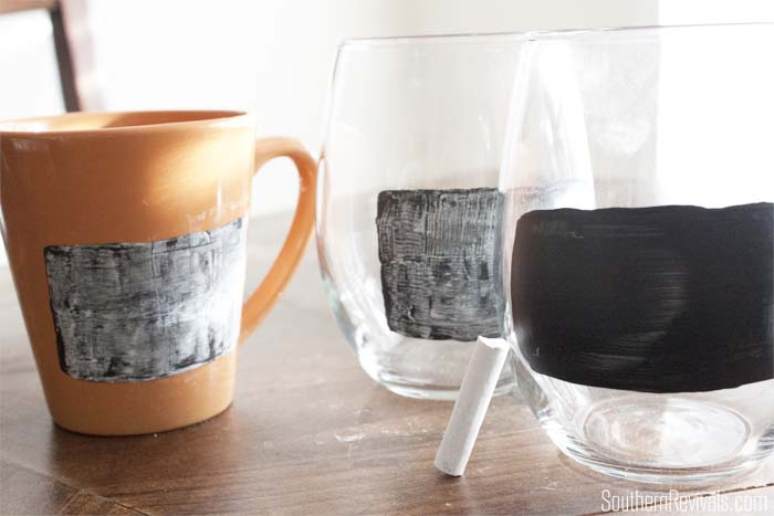 DIY Pier 1 Knock off Chalkboard Label Glasses + Mulled Wine Recipe