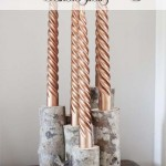 DIY Birch Log Candle Stick Holders