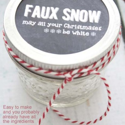 DIY Fake Play Snow + FREE Printable | Last Minute Stocking Stuffer
