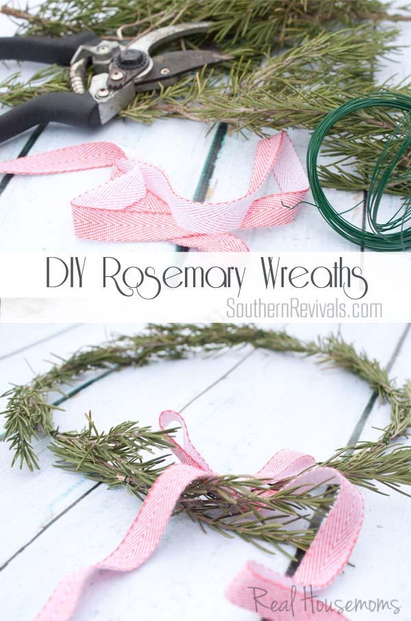 DIY Rosemary Wreaths
