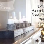 Wood Slice Votive Holder Centerpiece | Handmade Christmas Day 1