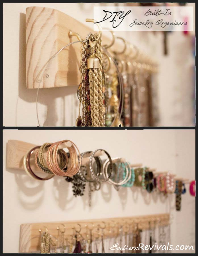 DIY Built In Jewelry Organizer
