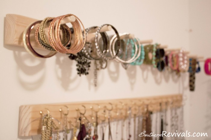 DIY BuiltIn Jewelry Organizer Southern Revivals