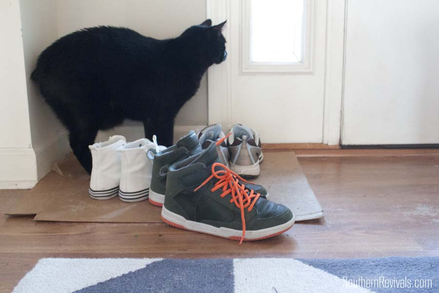 DIY Wooden Boot Tray & Shoe Organizer