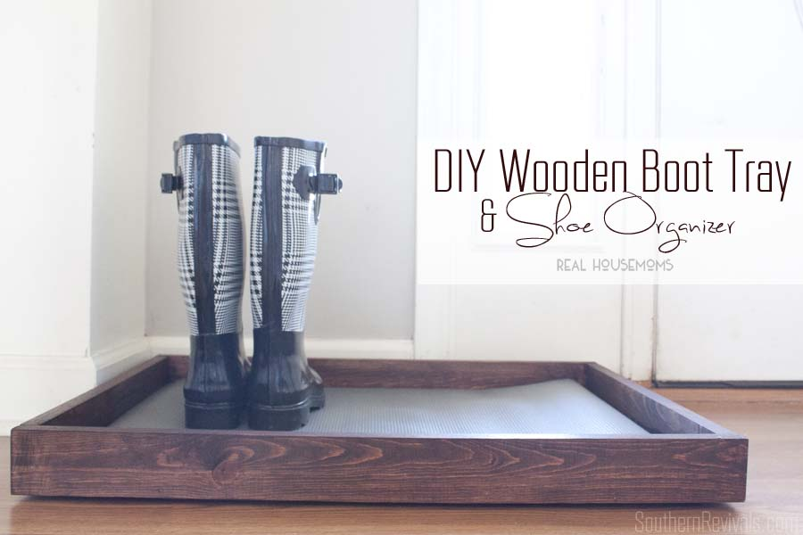 DIY Wooden Boot Tray & Shoe Organizer - Southern Revivals