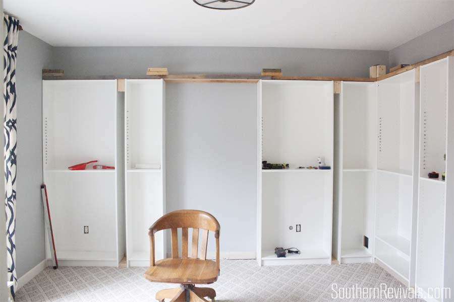 Office Makeover Part 1 - Building In Billy IKEA Hack - Southern ...