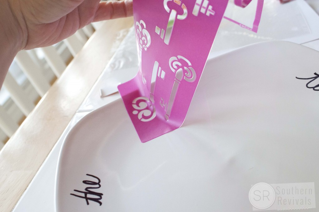 Mod Podge Stencil Personalized Valentine Cookie Platter