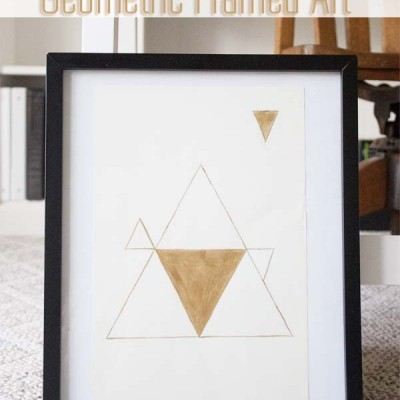 DIY Modern Gold Triangle Geometric Art Print