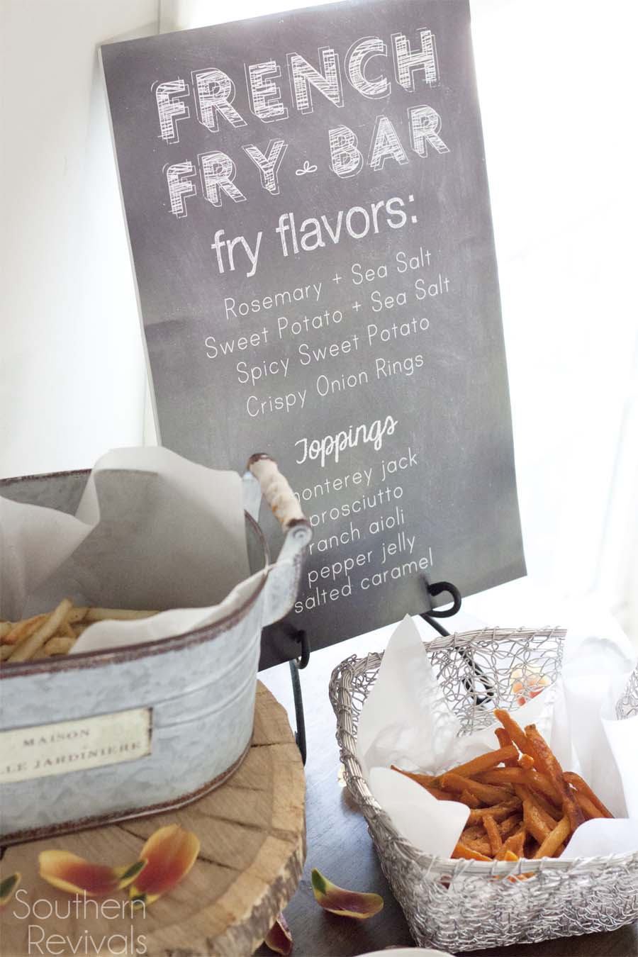 French Fry Bar