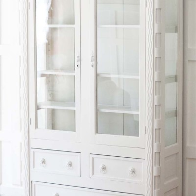 Handcrafted Mahogany China Cabinet Makeover