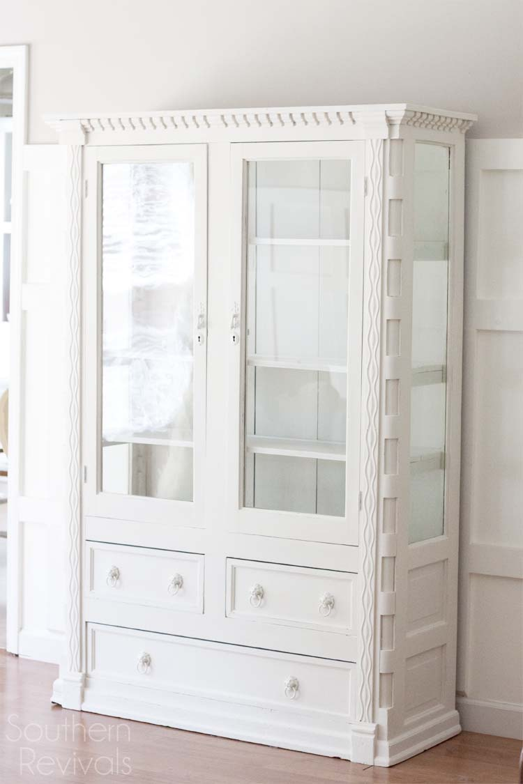 Mahogany China Cabinet Makeover