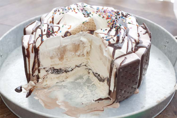 3 Layer Diy Ice Cream Cake Southern Revivals