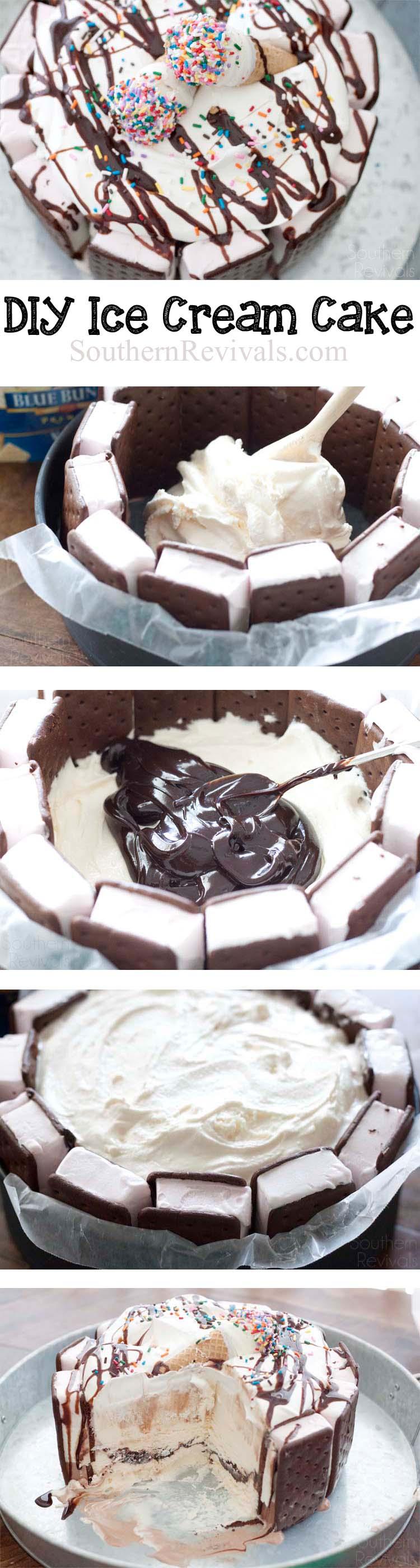 3-Layer DIY Ice Cream Cake