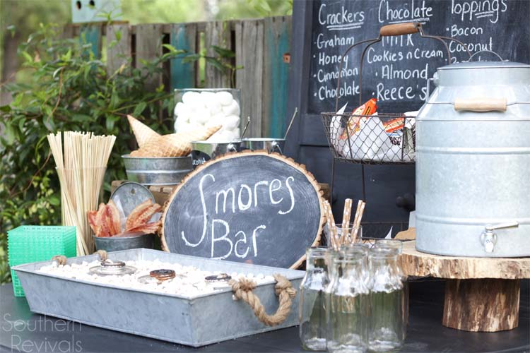 S'Mores Bar Summer Party