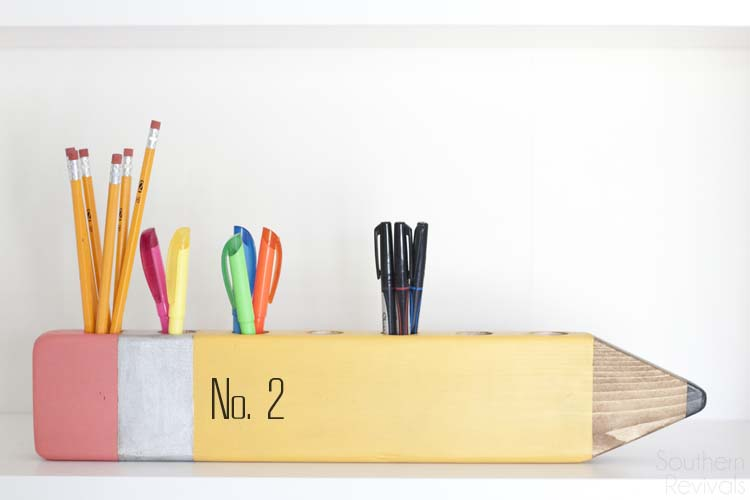 DIY Pencil Desk Organizer