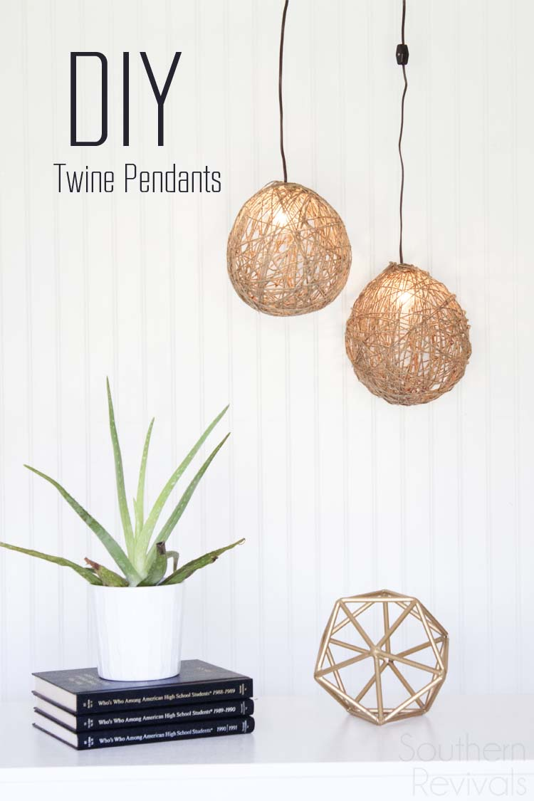 DIY Twine Pendant Light