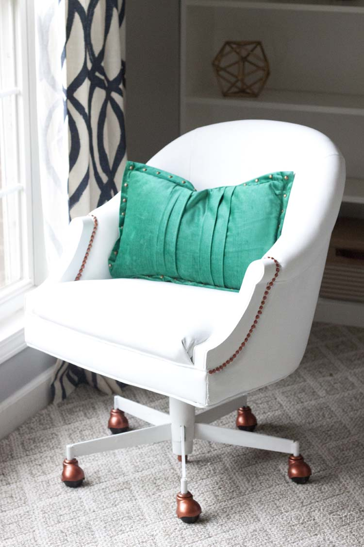... Painting Pleather Furniture By Painted Pleather Chair Southern Revivals  ...