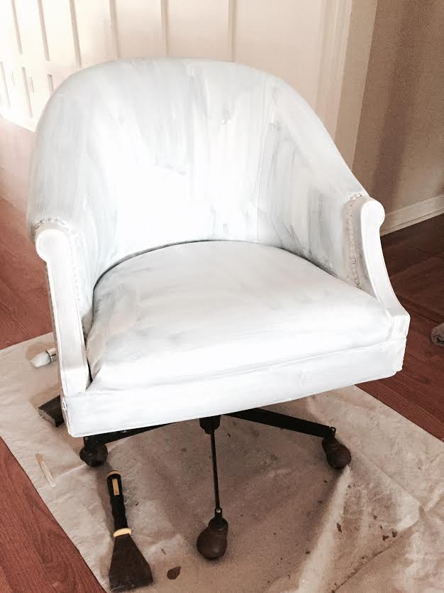 Painted Pleather Chair & Painted Pleather Chair - Southern Revivals