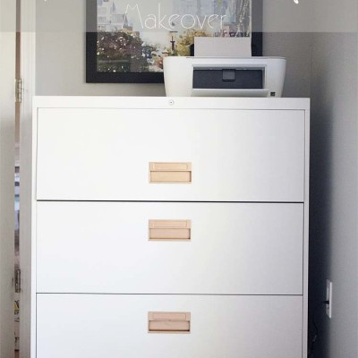 The $20 File Cabinet Makeover
