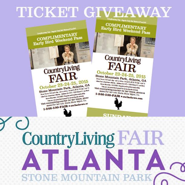 Country Living Fair Atlanta Ticket Giveaway