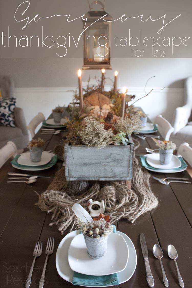 Fall Autumn Thanksgiving Tablescape Ideas