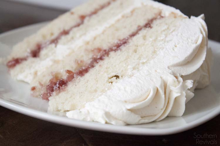 White Chocolate Raspberry Vanilla Cake