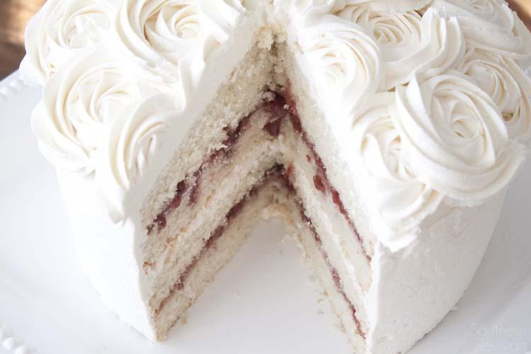 White Chocolate Raspberry Vanilla Cake Gluten Free