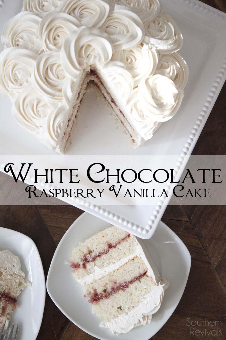 White Chocolate Raspberry Vanilla Cake - Gluten Free