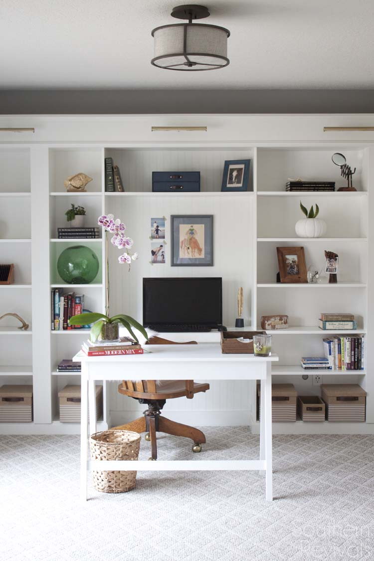Office Makeover Reveal Ikea Built In Billy Bookcases