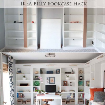 Office Makeover Part 2 | Building in Billy IKEA Hack