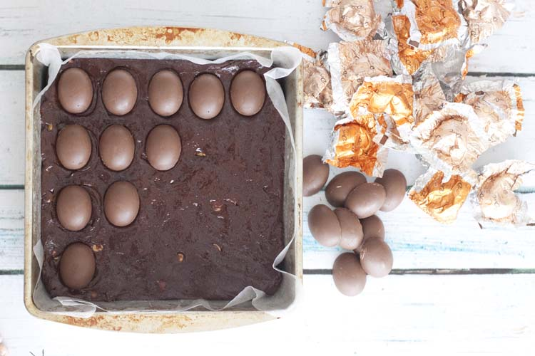 DOVE Eggs Peanut Butter Fudge Brownies