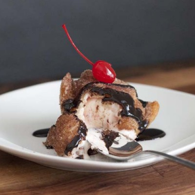 Cherry Cheesecake Fried Ice Cream