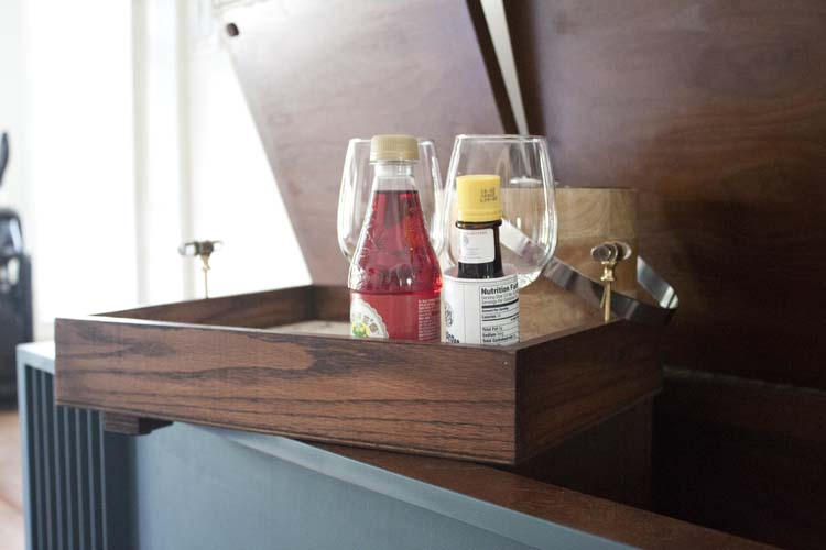 Vintage Stereo Cabinet Wet Bar