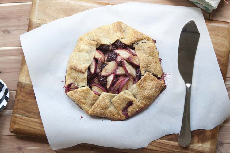 Easy Blackberry Peach Crostata