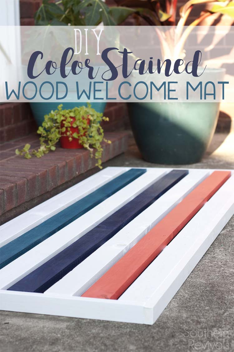 DIY Wooden Welcome Mat