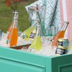 Wooden Planter Beverage Cooler