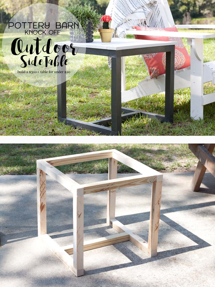 DIY Outdoor Side Table Pottery Barn Knockoff - Pottery barn outdoor coffee table