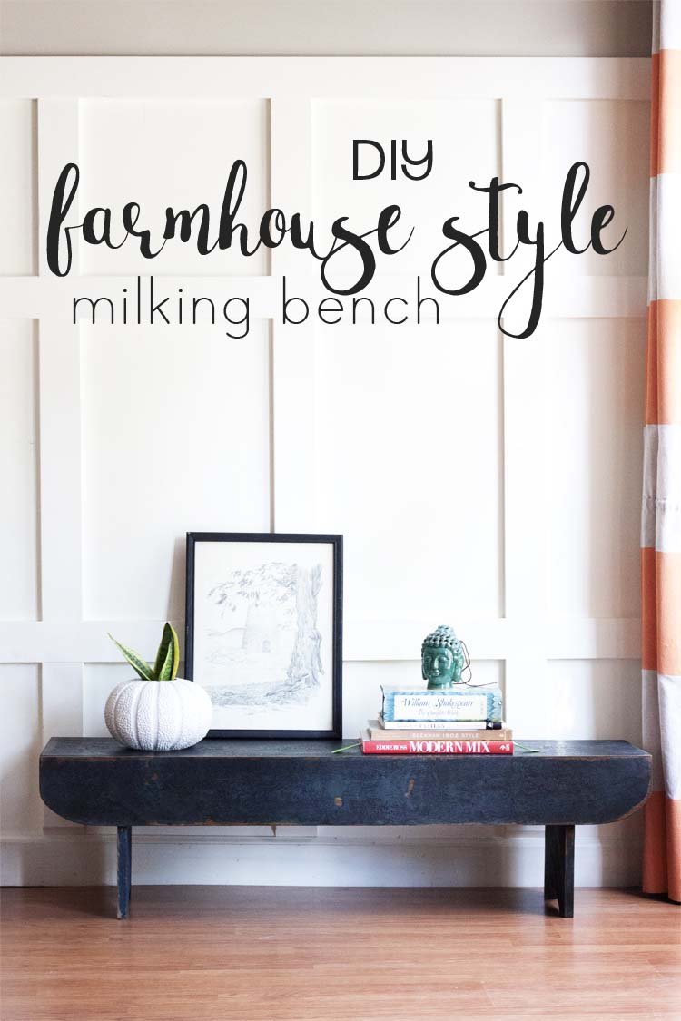 DIY Farmhouse Style Milking Bench