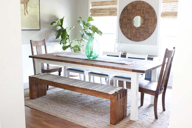 Modern Farmhouse Dining Room Makeover
