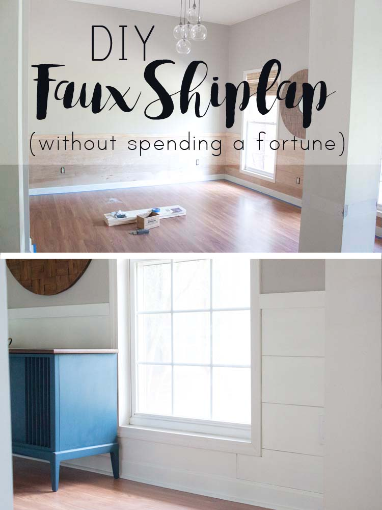 How To Diy Faux Shiplap Without Spending A Fortune