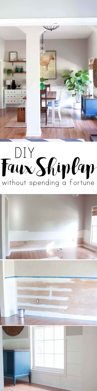 DIY Faux Shiplap