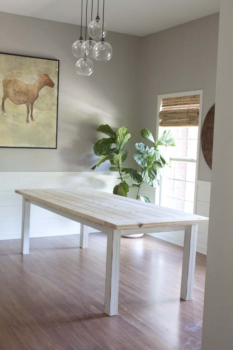 DIY West Elm Inspired Modern Farmhouse Bench